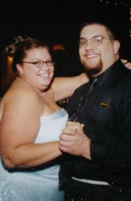 Adam and I at the wedding reception