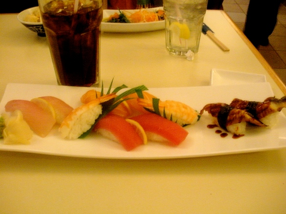 Yup, Friday Night Sushi!